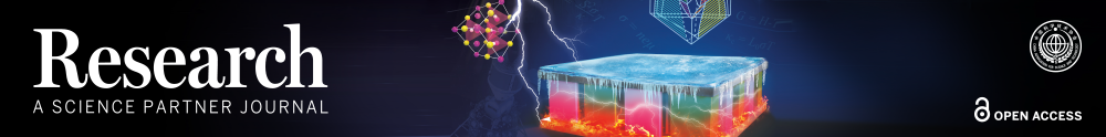 Journal logo and image of thermoelectric materials research